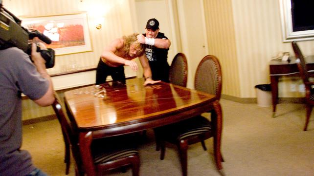 John Cena attacking Edge