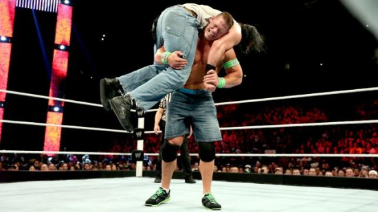 John Cena defeated Luke Harper by dq