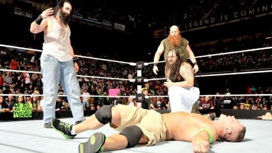 John Cena defeated Bray Wyatt, Erick Rowan and Luke Harper