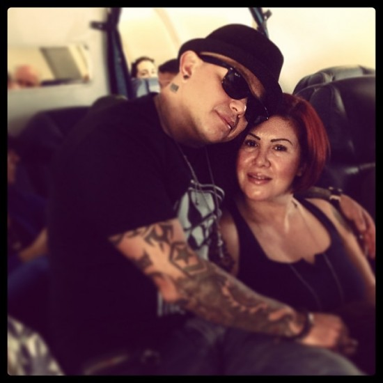 Rey Mysterio with his Wife