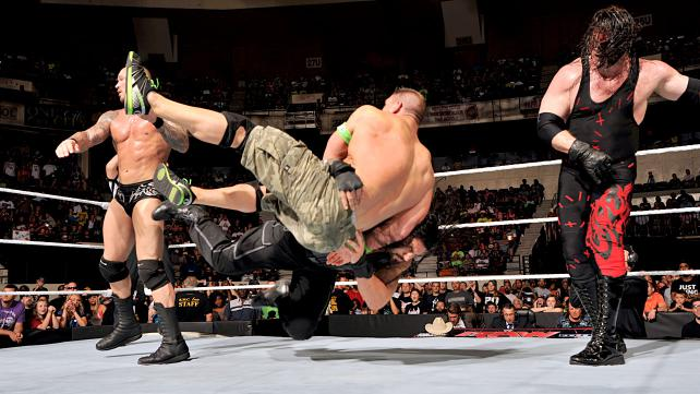 John Cena and Roman Reigns defeated Randy Orton, Seth Rollins and Kane.