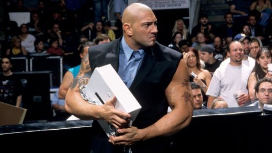 Batista With His Box In WWE