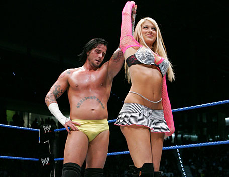 CM Punk and Kelly Kelly In Ring
