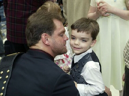 Chris Benoit With his Son