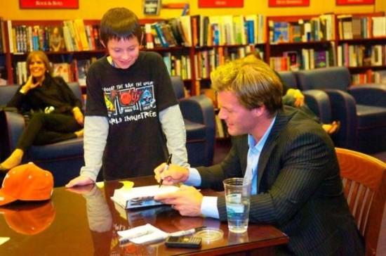 Chris Jericho Giving Autograph