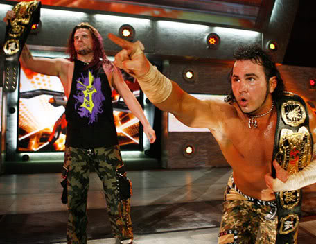 Hardy Brothers On Entrance Ramp In Wwe Arena