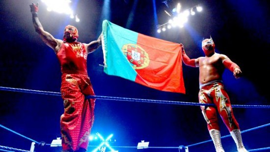 Sin Cara And Mysterio With Their Country Flag