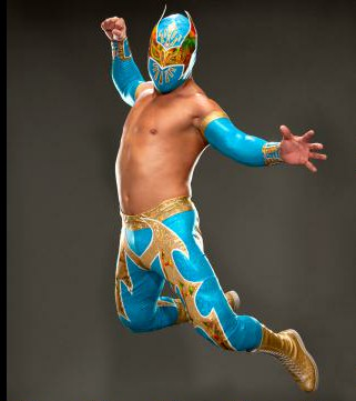 Sin Cara Superman Punch Action For Photo