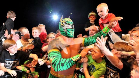 Sin Cara With His Fans