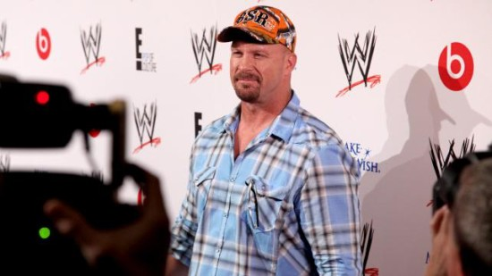 Stone Cold In Front Of Media