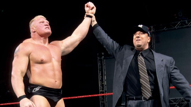 Brock Lesnar With His Manager
