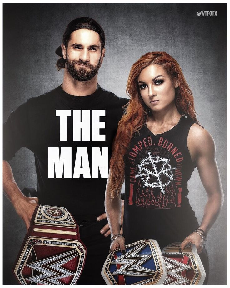 Becky Lynch and Seth Rollins Poster
