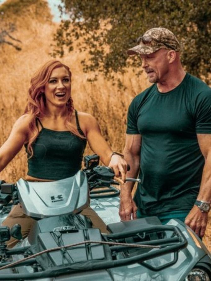 Becky Lynch and Stone Cold Steve Austin