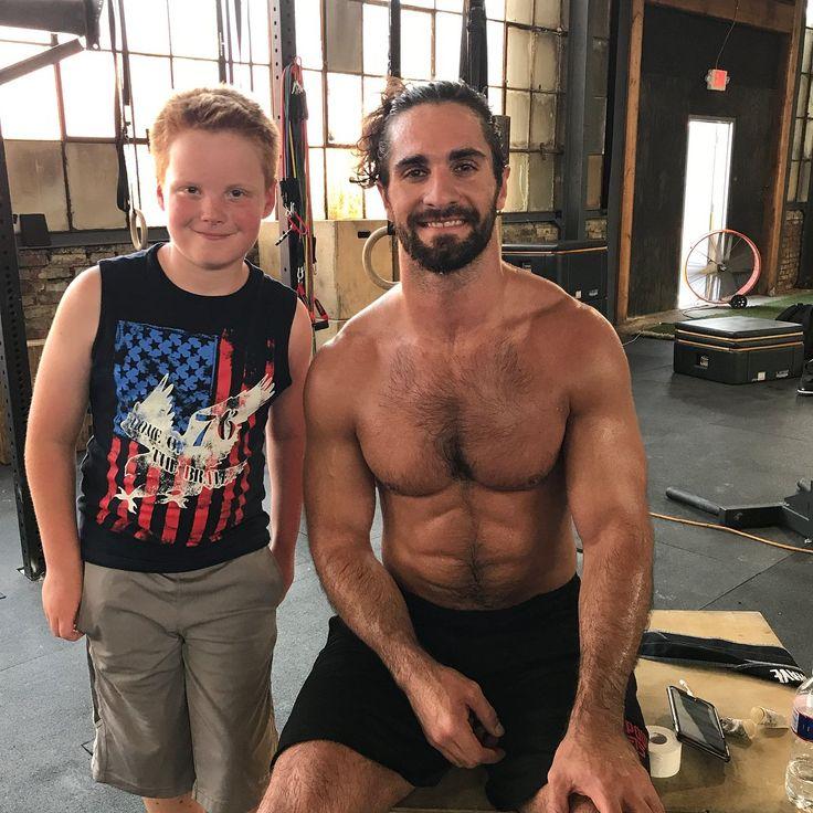 Seth Rollins with a Fan