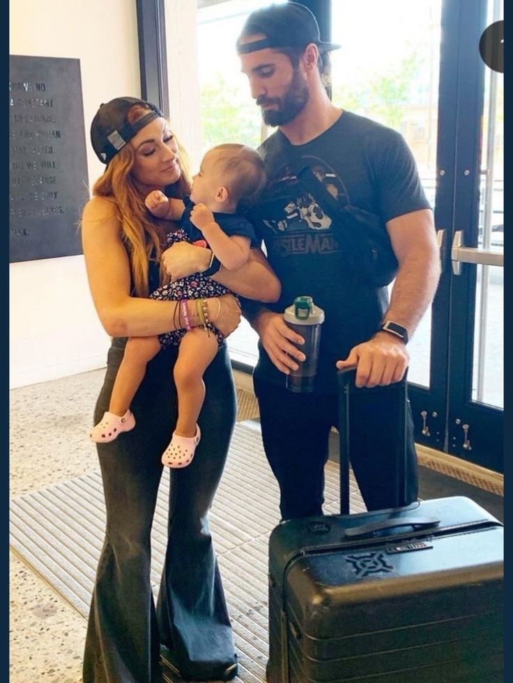 Seth Rollins with Family