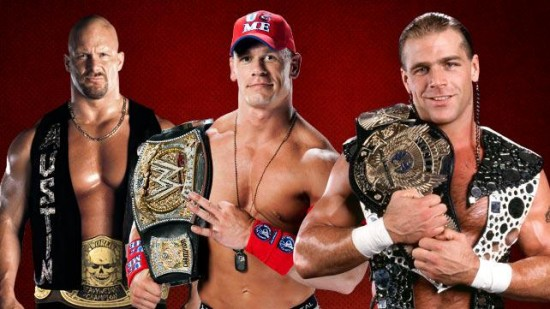 Shawn Michaels, John Cena & Stone Cold